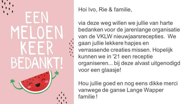 Bedanking Ivo & Familie